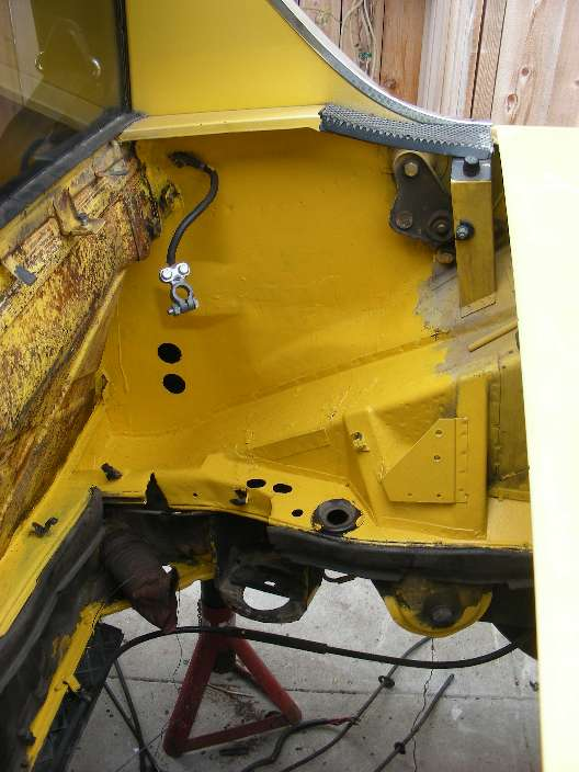 More no-rust area in engine compartment